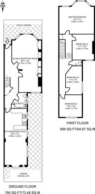 Large floorplan for Burrows Road, Kensal Green, NW10