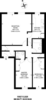 Large floorplan for Museum Street, Bloomsbury, WC1A