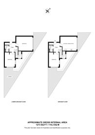 Large floorplan for Elgin Avenue, Maida Hill, W9