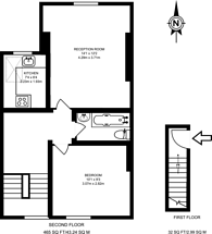 Large floorplan for Queens Road, Wimbledon, SW19