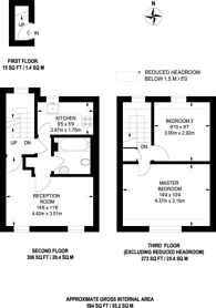 Large floorplan for Homer Street, Marylebone, W1H