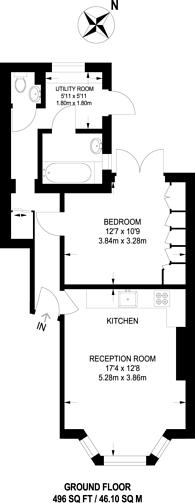 Large floorplan for Lower Teddington Road, Hampton Wick, KT1