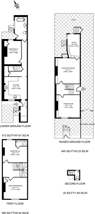 Large floorplan for Wallgrave Road, Earls Court, SW5