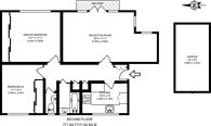 Large floorplan for Queens Walk, Ealing, W5