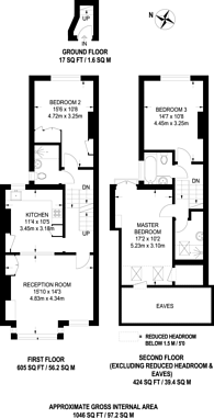 Large floorplan for Mexfield Road, East Putney, SW15