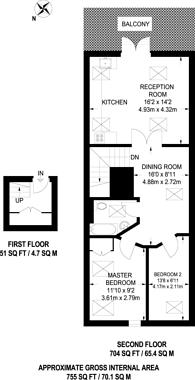 Large floorplan for Monks Orchard Road, West Wickham, BR3