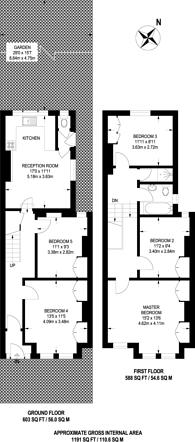 Large floorplan for Undine Street, Tooting, SW17