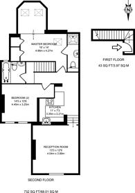 Large floorplan for Woodside Park Road, Woodside Park, N12