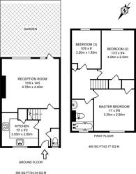 Large floorplan for Highbury Quadrant, Islington, N5