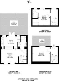 Large floorplan for Palace Gardens Terrace, Kensington, W8