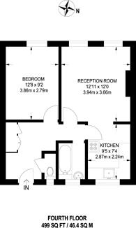 Large floorplan for Pomeroy Street, New Cross, SE14