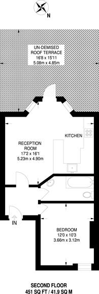 Large floorplan for West Hill, Putney, SW18