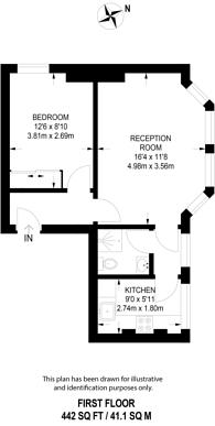 Large floorplan for Frognal Lane, Hampstead, NW3
