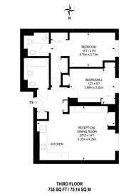 Large floorplan for Baker Street, Marylebone, W1U