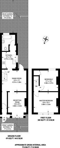 Large floorplan for Olive Road, Plaistow, E13