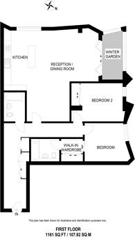 Large floorplan for Sulivan Road, Hurlingham, SW6