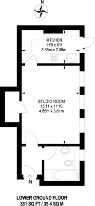 Large floorplan for Montagu Street, Marylebone, W1H