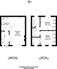 Large floorplan for Grove Mews, Hammersmith, W6