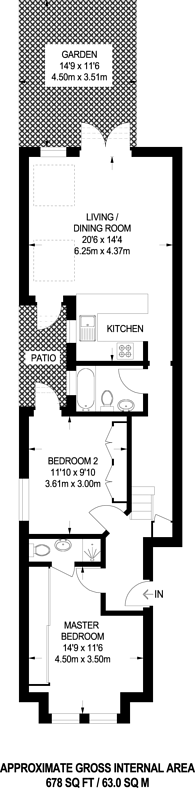 Large floorplan for De Morgan Road, Sands End, SW6
