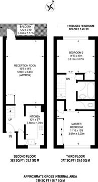 Large floorplan for Harpley Square, Stepney, E1
