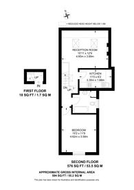 Large floorplan for Edgeley Road, Clapham High Street, SW4