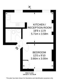 Large floorplan for Formosa Street, Little Venice, W9