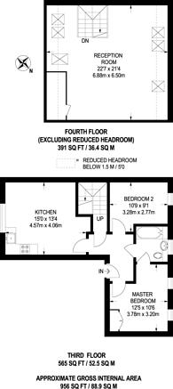 Large floorplan for Kelly Avenue, Peckham, SE15