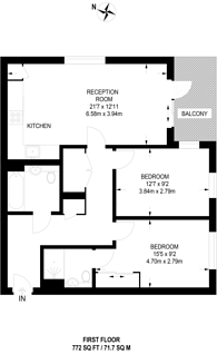 Large floorplan for Pipit Drive, Putney, SW15