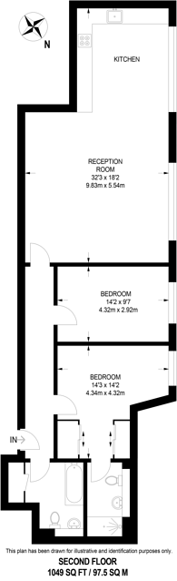 Large floorplan for Princelet Street, Shoreditch, E1