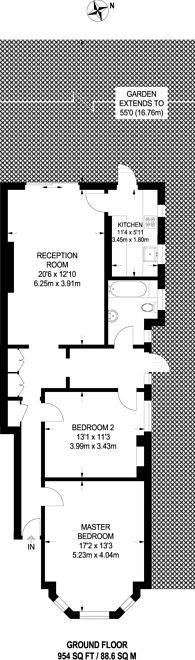 Large floorplan for Cranhurst Road, Willesden Green, NW2
