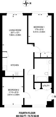 Large floorplan for Bezier Apartments, Clerkenwell, EC1Y