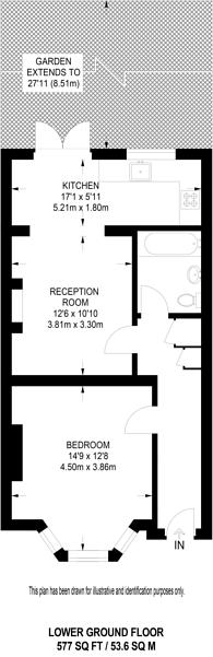 Large floorplan for Milson Road, Brook Green, W14