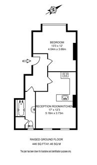 Large floorplan for Manor Gardens, Archway, N7