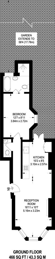 Large floorplan for Alexandra Road, Wood Green, N8
