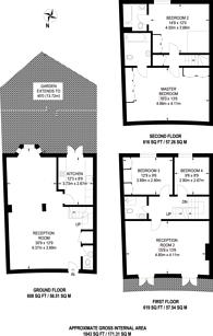 Large floorplan for Fitzroy Crescent, Grove Park, W4