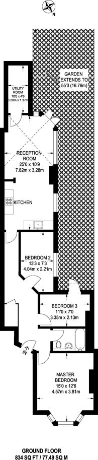Large floorplan for Morrish Road, Brixton Hill, SW2