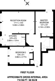 Large floorplan for Video Court, Crouch End, N4