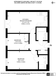 Large floorplan for Academy Place, Isleworth, TW7
