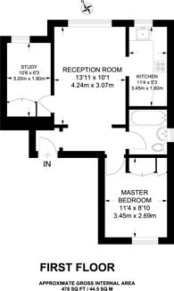 Large floorplan for Manor Road, Barnet, EN5