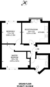 Large floorplan for High Street, Crouch End, N8