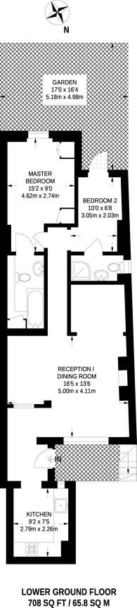 Large floorplan for Cumberland Street, Pimlico, SW1V