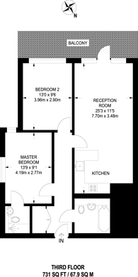 Large floorplan for Vermillion, Canning Town, E16