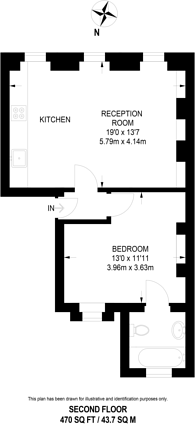 Large floorplan for Cosmo Place, Bloomsbury, WC1N