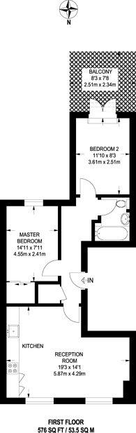 Large floorplan for Old London Road, Kingston, KT2