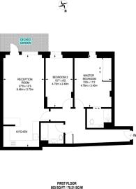 Large floorplan for Buckingham Palace Road, Pimlico, SW1W