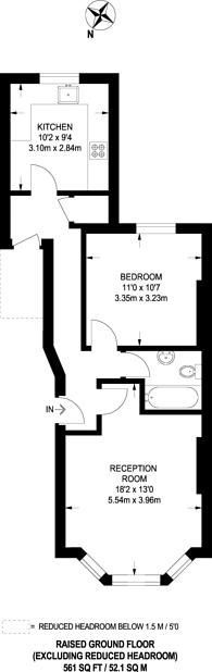 Large floorplan for Avenue Park Road, Tulse Hill, SE27