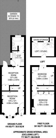 Large floorplan for Bradley road, Wood Green, N22, Wood Green, N22
