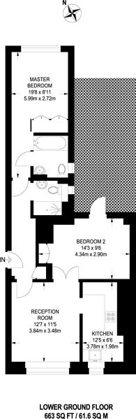 Large floorplan for Hans Crescent, Knightsbridge, SW1X
