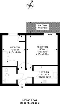 Large floorplan for Bromley Road, Shortlands, BR2