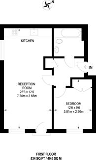 Large floorplan for Welbury Court, Dalston, E8